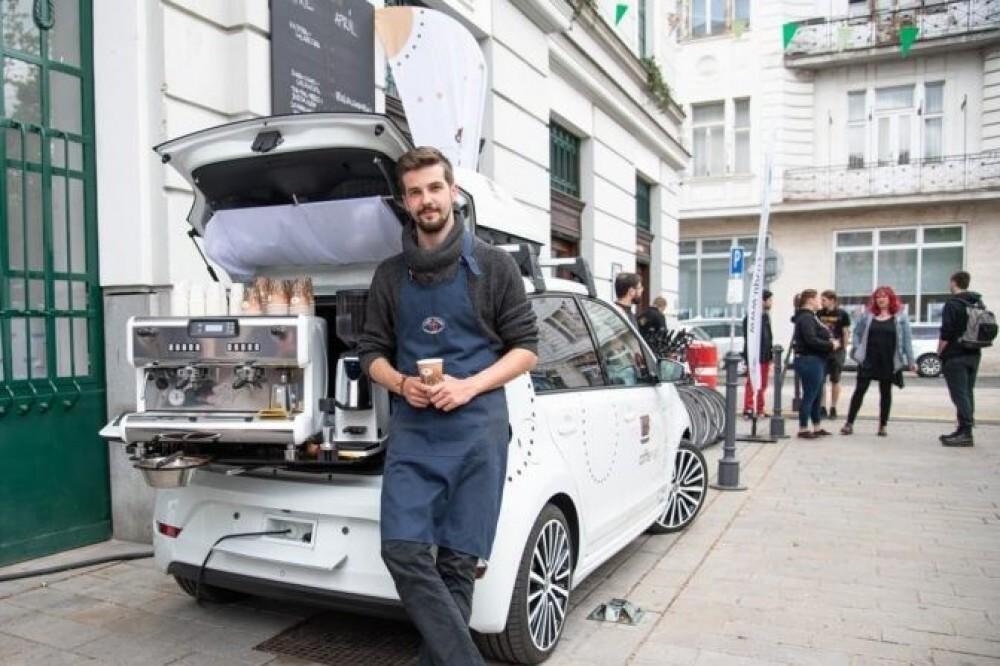 Volkswagen vyrobil z auta pojazdnú kaviareň coffee up!